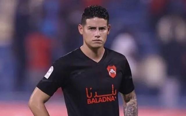 James no tuvo un buen debut con el Al-Rayyan del fútbol de Catar