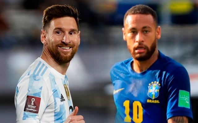 ¡Cracks! Messi llegó a 80 festejos con Argentina y es el máximo goleador en Suramérica, mientras Neymar superó a Pelé