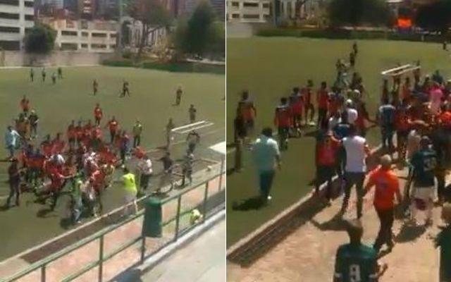 EN VIDEO: A los golpes terminó el partido Envigado vs. Patriotas del torneo sub-17