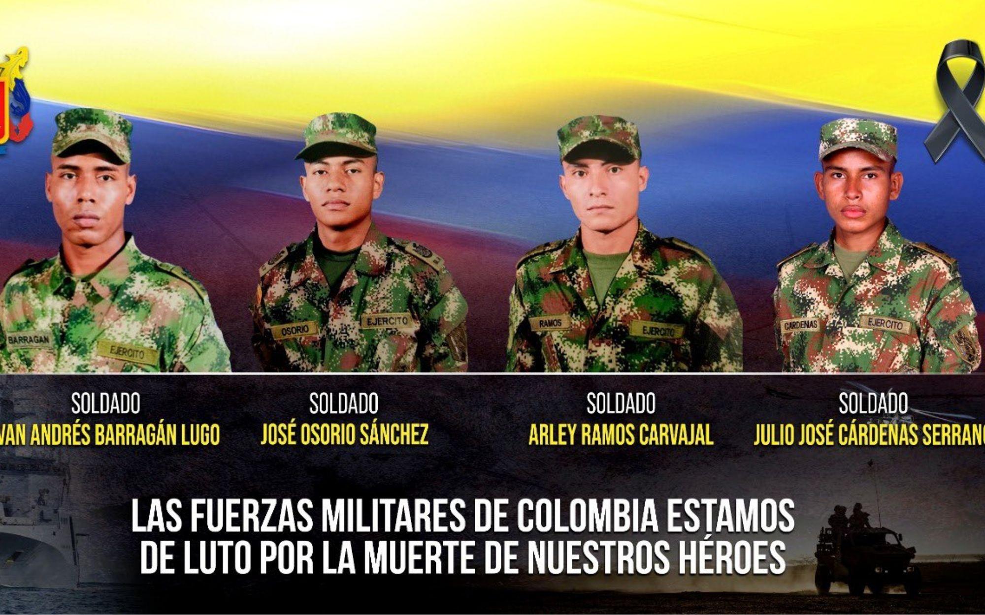 EN FOTOS: Estos fueron los soldados asesinados en Turbo e Ituango